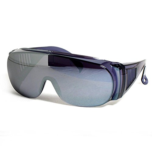 Large Fit Over Sunglasses Silver Mirror Lens UV Protection By CSC (Glasses Frames For 60 Year Old Woman)