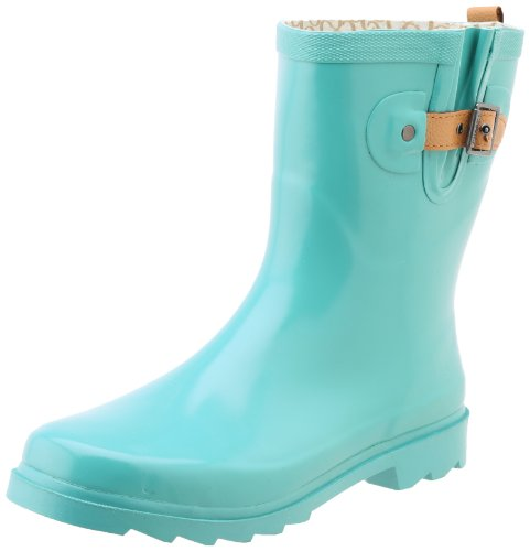 Turquoise Boot Low Bright Chooka Rain Solid Top Women's xwCqfa4