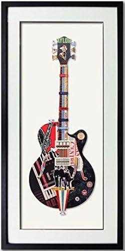 3Hdeko Guitarra Moderna Papel de Arte de Pared 3D Arte Colgante ...