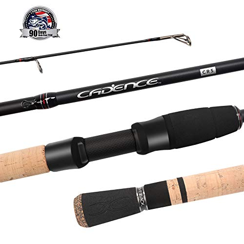 Cadence Fishing CR5 Spinning Rods | 30 Ton Carbon | Fuji Reel Seat | Stainless Steel Guides with SiC Inserts | CR5-701S-MF (Best Inshore Rod And Reel)