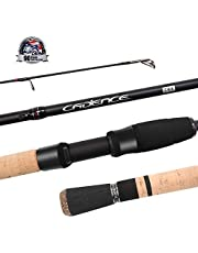 Cadence Spinning Rod,CR5-30 Ton Carbon Casting and Ultralight Fishing Rod,Fuji Reel Seat,Durable Stainless Steel Heat Dissipation Ring Line Guides with SiC Inserts,Strongest and Sensitive Action Rods