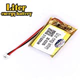 BIHUADE 3.7V 652535 800mAh Jst Ph1.5 Connector Plug Lithium Polymer Li-Po Battery Lithium Ion Polymer Rechargeable Battery for MP4 GPS MP3 Bluetooth Stereo DIY Gift