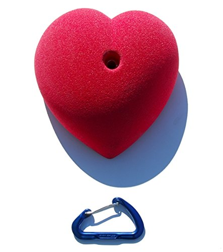 XXL Heart Jug l Climbing Holds l Red by Atomik Climbing Holds