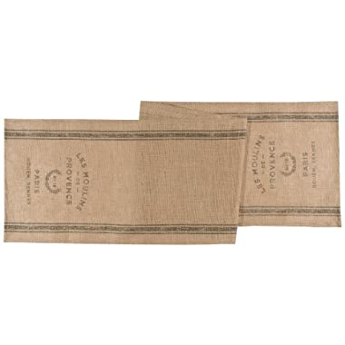 Now Designs Table Runner, Burlap Les Moulins