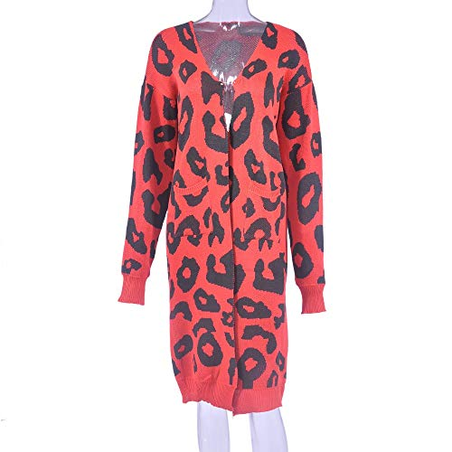 83eebcde195 LISTHA Knitted Sweater Cardigans for Women Print Maxi Coat Long Sleeve Tops  with Pocket