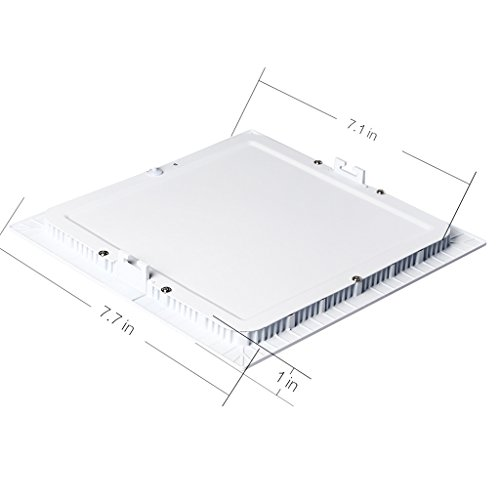 B-right 15W 7-inch Dimmable Square LED Panel Light Ultra-thin 1200lm 5000K Cool White LED Recessed Ceiling Lights for Home Office Commercial Lighting by B-right (Image #6)