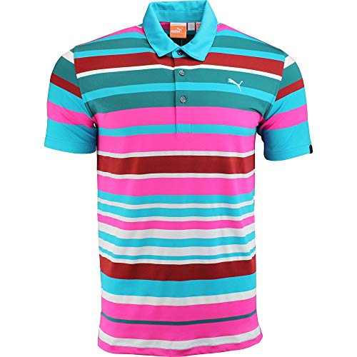 - Puma Golf NA Men's Roadmap Stripe Polo Shirt, Bluebird, X-Large