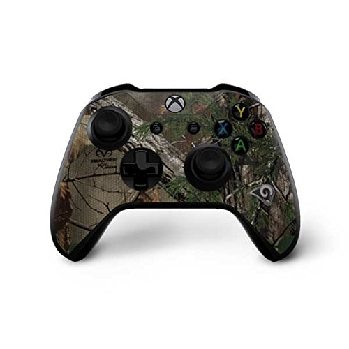 Skinit NFL Los Angeles Rams Xbox One X Controller Skin - Los Angeles Rams Realtree Xtra Green Camo Design - Ultra Thin, Lightweight Vinyl Decal Protection by Skinit