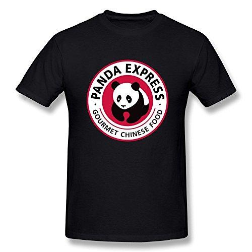 Suamdan Mens Panda Express T Shirt M Black