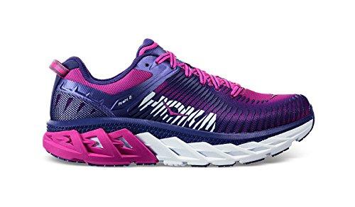 Cheap HOKA ONE ONE Womens Arahi 2 Liberty/Fuchsia Running Shoe – 8.5
