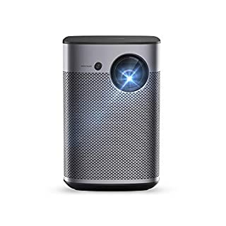 XGIMI Halo True 1080p Full HD Portable Projector Android TV 9.0 5000+ Native apps, Harman/Kardon Speakers, 800 ANSI Lumen, Outdoor Projector WiFi Bluetooth Watch Anywhere