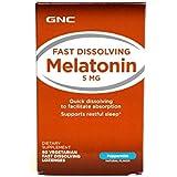 GNC Melatonin 5000 Zipmelt, Vegetarian Tablets, 60 ea