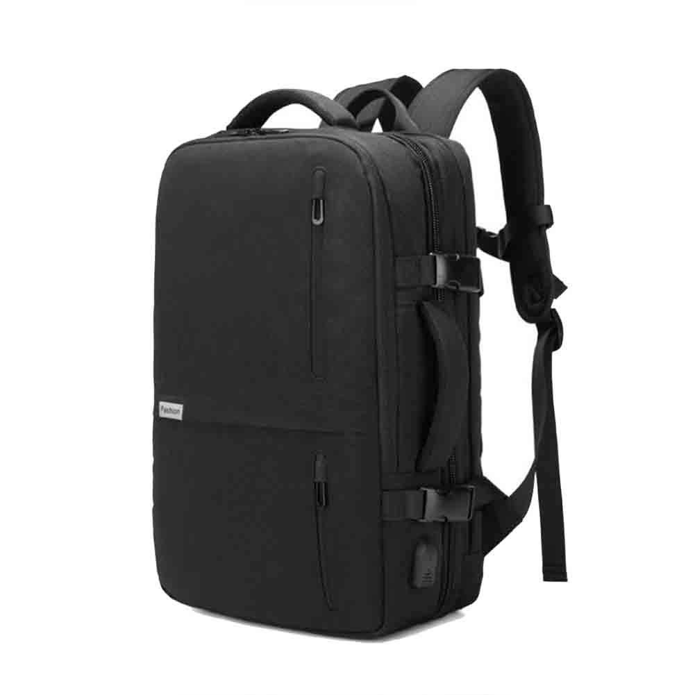 Pureed Rucksack Herren Business High End Multifunktions Reise High Capacity Handtasche Computer Tasche Skalierbare 15 6 Zoll Laptop (Farbe   schwarz) (Farbe   Schwarz, Größe   One Größe)