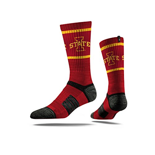 Iowa State Cyclones Nfl (Strideline NCAA Iowa State Cyclones Premium Athletic Crew Socks, Red, One Size)