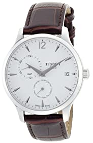 Tissot Tradition GMT Leather Mens Watch - Black
