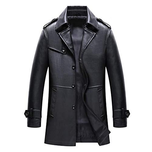 Chaqueta de cuero de los hombres, abrigos casuales mediados de-longitud de la caída de la primavera, prendas de vestir...