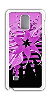 NBcase Girly Pink Flower Hard PC case galaxy note 4