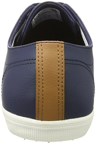 para Leather de Oxford Fred Azul Perry Zapatos Carbon Blue Cordones Hombre Kingston qwpHB