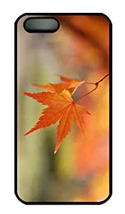 iPhone 5S Case - Customized Unique Design Orange Leaves Bokeh New Fashion PC Black Hard by Maris's Diary