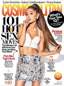 Cosmopolitan Magazine April 2017 - Ariana Grande cover 101 Hot Sex Moves