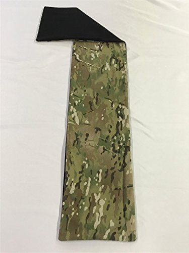 Cami Wool - Multicam Camo Print Scarf with 100% Black Wool Backing
