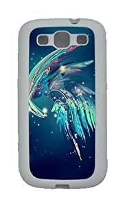 Best Samsung Galaxy S3 Cases - Blue Feather TPU Case Cover for Samsung Galaxy S3 SIII White