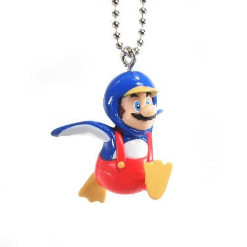 Super Mario Brothers New WII Mascot Keychains - Penguin Mario