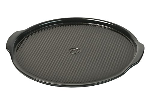 Emile Henry Made In France Flame Pizza Stone, 14.6 x 14.6'', Charcoal by Emile Henry