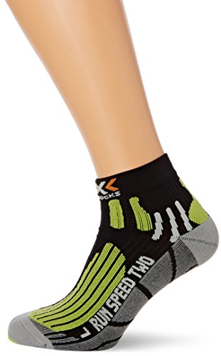 X-Socks Erwachsene Funktionssocken Run Speed Two, Black/Green Lime, 42/44, X020432