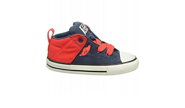 156ac2987b5 Amazon.com | Converse Unisex Baby Chuck Taylor All Star Axel Mid (Inf/Tod)  - Navy/Red - 3 Infant | Sneakers