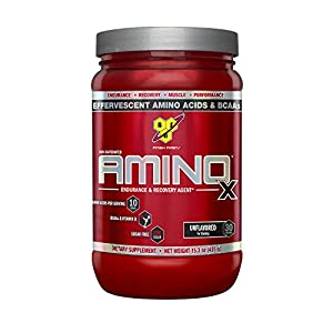 BSN Amino X Post Workout Muscle Recovery & Endurance Powder with 10 Grams of Amino Acids Per Serving, Flavor: Unflavored, 30 Servings (Packaging May Vary)