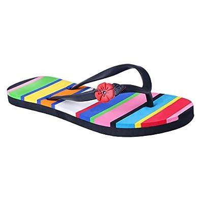 e7dca8e30 HD Multi Color Casual Rubber Flip-Flop Slippers for Women (FBA  Hawai BIGSPACELINE MULTI36)