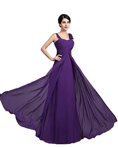 mujer noche de de la largo para Elegantes Vestido honor Morado XIAOMING dama de PnFHBqSOxw