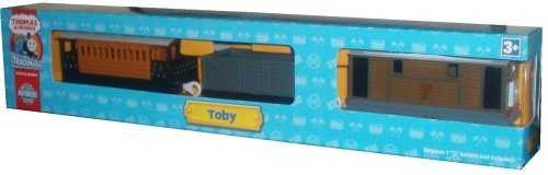 (Trackmaster Railway System - Thomas and Friends Motorized Road and Rail Battery Powered Tank Engine : Toby the Tram Engine with Troublesome Truck and Henrietta, Toby's Faithful Coach)