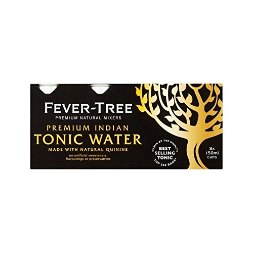 Fever-Tree Premium Indian Tonic Water Cans 8 x 150ml (Pack of 4) by Fever-Tree