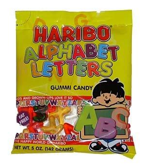 Haribo Gummi Alphabet Letters 5.29 Ounce Bags - 12 / Case