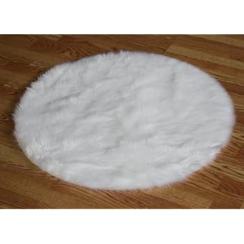 Amazon Com 5 Bright White Plush Faux Fur Sheepskin