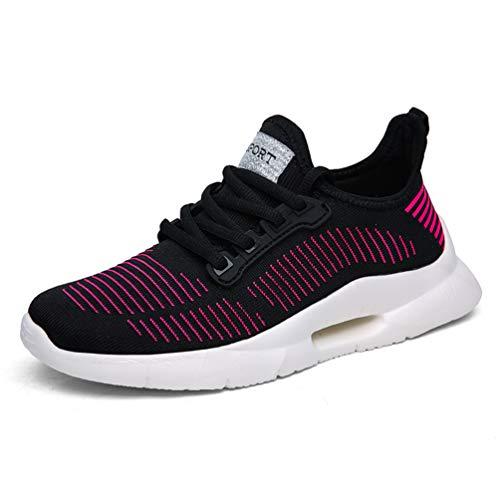 Negro Deportivas Deportivos para para Zapatillas Rojo Zapatillas Mujer Gimnasio Las Mujeres Correr Zapatos xF0cwwPTq