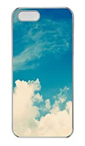 Wide Open Skies Polycarbonate Plastic Hard Case for iPhone 5S and iPhone 5 Transparent