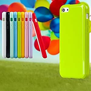 LCJ Candy Colorful Silicone Back Case for iPhone 4/4S (Assorted Color) , Red