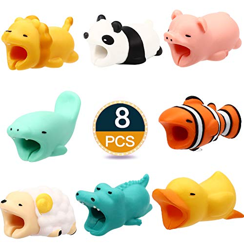 Various Animal - RHCPFOVR 8PCS Cute Animal Cable Bites,Various Animal Cable Cord Data Line Cell Phone Accessories Protects Creative Gift (8PCS)