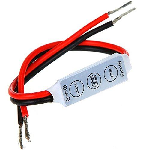 Asunflower LED Dimmer Controller 12V Switch ON/OFF LED Strip Light Dimmer Controller Multi Mode