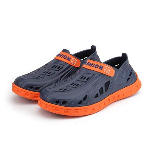 64915a7151569a En Sport Extérieur Été Plastique Mer De Aquatiques Chaussures Bleu Homme  Sandales Hommes Pour D'été ...