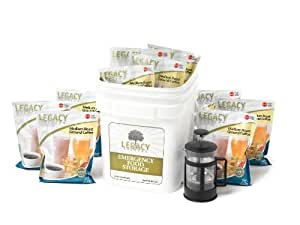 Emergency Survival Ground Coffee Supply - 350 Large Servings for Food Storage - 8 Lbs - Includes French Press - Disaster Preparedness