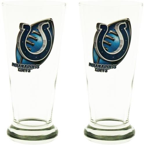 12 Oz Flared Pilsner Glass (Indianapolis Colts Two Pack 12-Ounce Flared Pilsner)