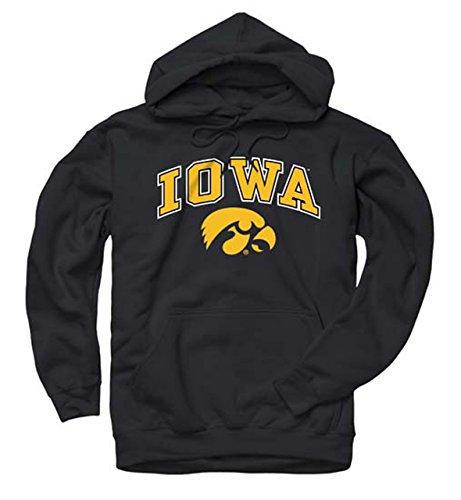 - Campus Colors Iowa Hawkeyes Arch & Logo Gameday Hooded Sweatshirt - Black, Medium