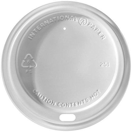 International Paper - LHRDS-16 - Dome Lid, 16 oz., Polystyrene, White, - White Dixie Dome