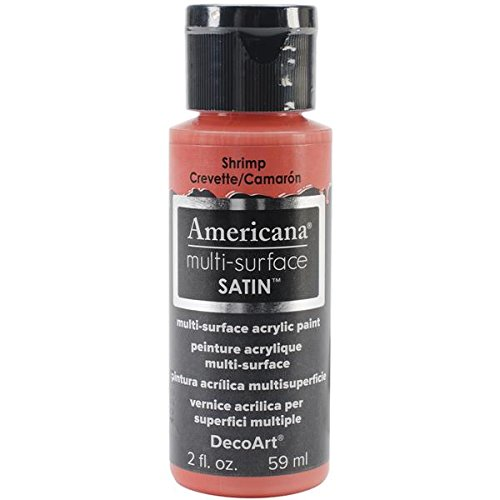DecoArt Americana Multi-Surface Satin Acrylic Paint, 2-Ounce, Shrimp