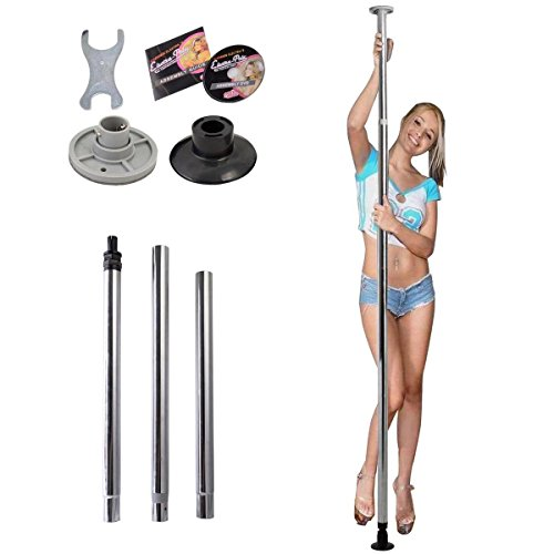 New Dance Pole Full Kit Portable Stripper Exercise Fitness Club Party Dancing