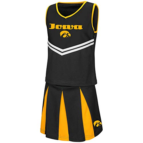 Colosseum Youth NCAA-Girls Cheer Set-Iowa Hawkeyes-Youth Small -